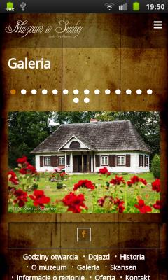 """Strona """"Galeria"""" z karuzelą"""