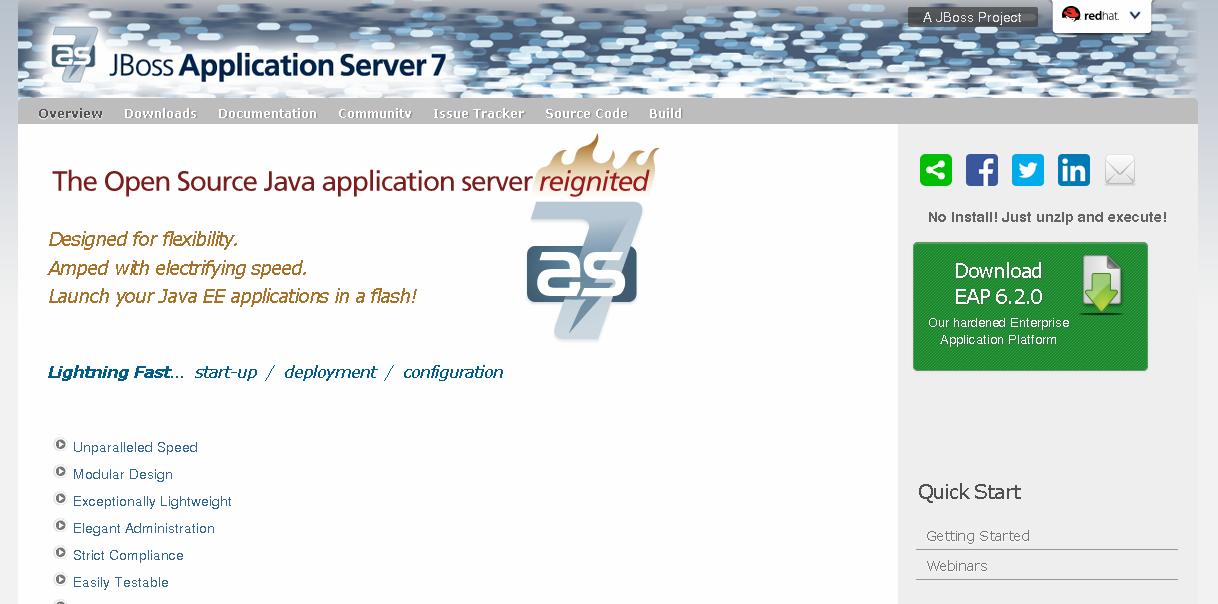 Strona główna projektu JBoss