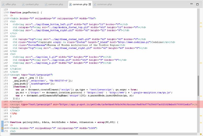 g-spot.io - umieszczenie kodu JavaScript w kodzie własnej strony WWW