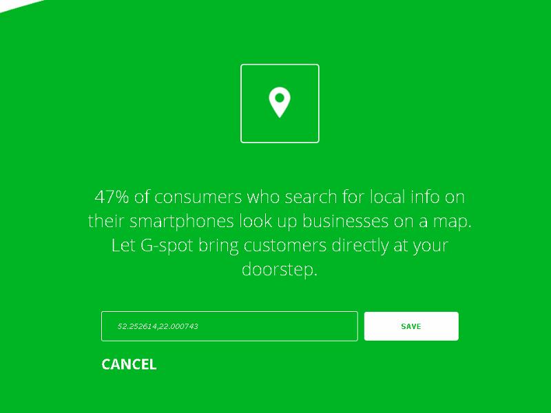 g-spot.io - wprowadzanie własnych danych