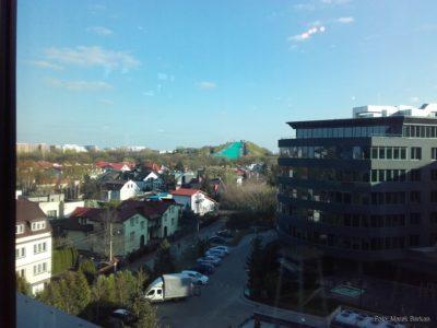 Widok z okna na Górkę Szczęśliwicką